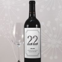 Classic Table Number Wine Label