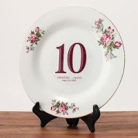 Clear Cling Classic Table Number