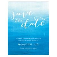 Aqueous Save the Date Cards