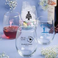 15 Ounce Personalized Stemless Wine Glasses