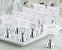 Kissing Bell Place Card/Photo Holder Silver (Set of 24)