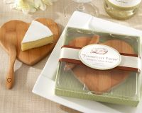 Bamboo Wood Cheese Board and Spreader