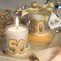 50th Golden Anniversary Candle Favors