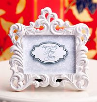 White Baroque Picture/Photo Frame or Place Card Holder