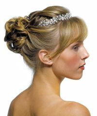 Garden Wedding Tiara Accessory in Silver with White Pearls