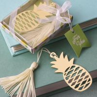 Warm Welcome Gold Pineapple Bookmark