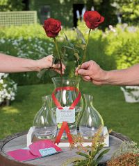Red Rose Ceremony Set with Vases