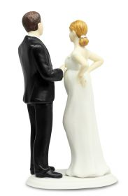 Expecting a Baby Bride and Groom Wedding Cake Topper