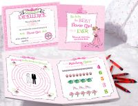Flower Girl Activity Book and Crayon Set