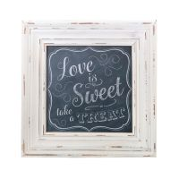 Love is Sweet Square Framed Sign