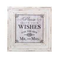Wishes Square Sign - White