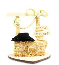 Gettin Hitched Western Cake Topper