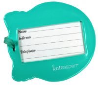 Kate Aspen Owl Luggage Tag Back View
