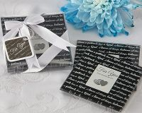 Love Is... Glass Photo Coasters- Set of 2