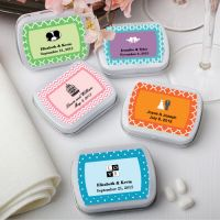 The possibilities are endless for what you can put on the inside AND the outside of these adorable little mint tins. That's because you can fill them with mints, candy, confetti, coins and so much more AND you give it the personal touch by adding a label