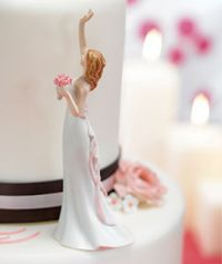 Bride Reaching For Her Star Cake Topper