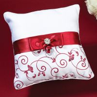 Red & White Ring Pillow