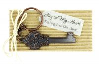 Antique Key to my Heart Keychain Favor