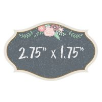 Set of 12 Black and Pink Glass Cling