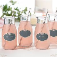 Set of 24 Black and Pink Drink Cling