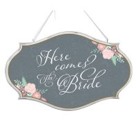 Here Comes the Bride Oval Sign