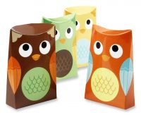 Whooo's Happy Owl Favor Boxes
