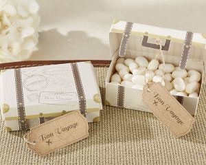 Mini Suitcase Vintage Favor Boxes - Set of 24