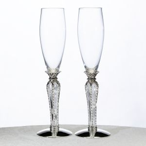 Crown Champagne Flutes