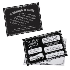 Wishes Cards Black - Set of 48