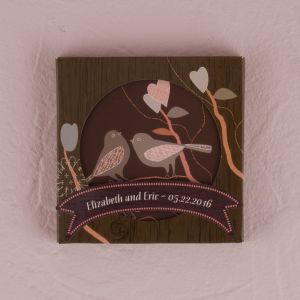 Love Birds Coaster Set in Gift Packaging - Set of 2