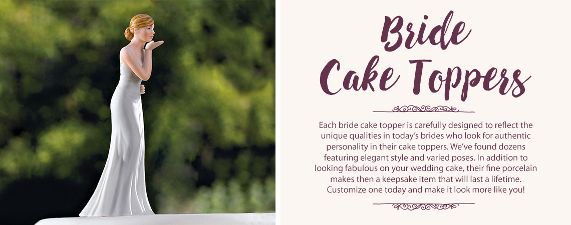 Bride Wedding Cake Toppers