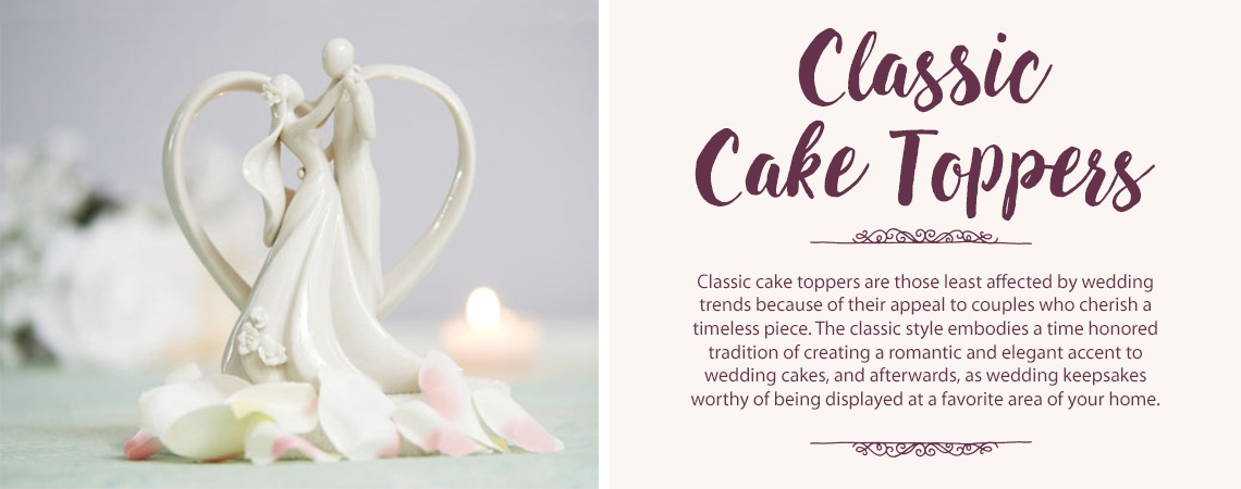 Classic Wedding Cake Toppers