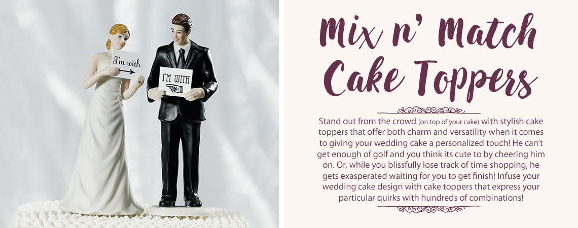 Mix and Match Wedding Cake Toppers