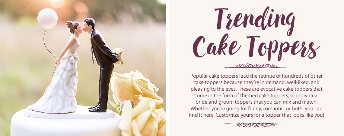 Our Most Popular Wedding Cake Toppers