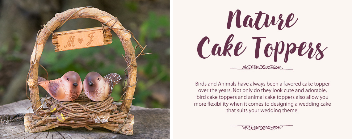 Nature Wedding Cake Toppers