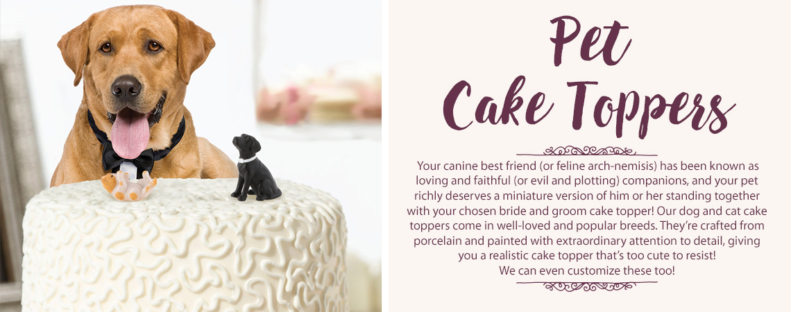 Dog and Cat Pet Cake Toppers